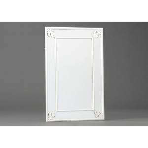 Ogledalo KOVINA/BELO 120253