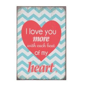 Napis I LOVE YOU MORE...6H1237