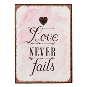 Magnet LOVE NEVER FAILS 6Y2340